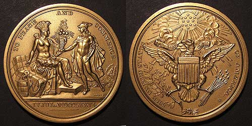 Diplomatic Medal Of Peace And Commerce 1792