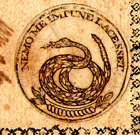 Detail of a Georgia $20 note (1778)
